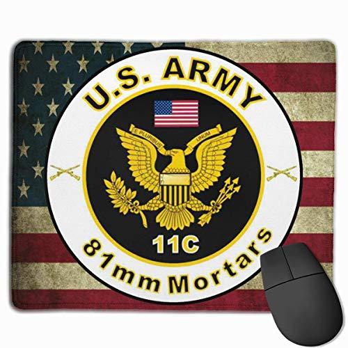 AVENTN US Army MOS 11C 81 mm Mörser Mauspads rutschfeste Gaming-Mauspad Mousepad 8,6 x 7,1 Zoll