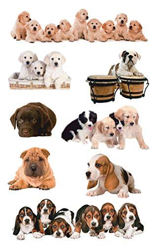 AVERY Zweckform 55972 stickers (voor kinderen, honden, papier) 3 vellen, 24 stickers