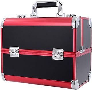 صندوق تجميل كبير جدًا، صندوق تجميل مجوهرات الأظافر، حقيبة أدوات تجميل لمستحضرات التجميل، حقيبة تخزين إكسسوارات التجميل، لخ...