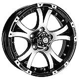 Viking Series Matte Black Machined Face & Lip Aluminum Trailer Wheel with Cap - 15' x 5' 5 On...