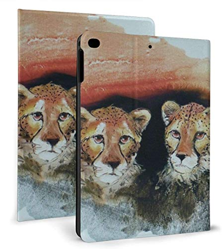 Three Lovely Leopards PU Leather Smart Case Auto Sleep/Wake Feature for iPad Air 1/2 9.7' Case