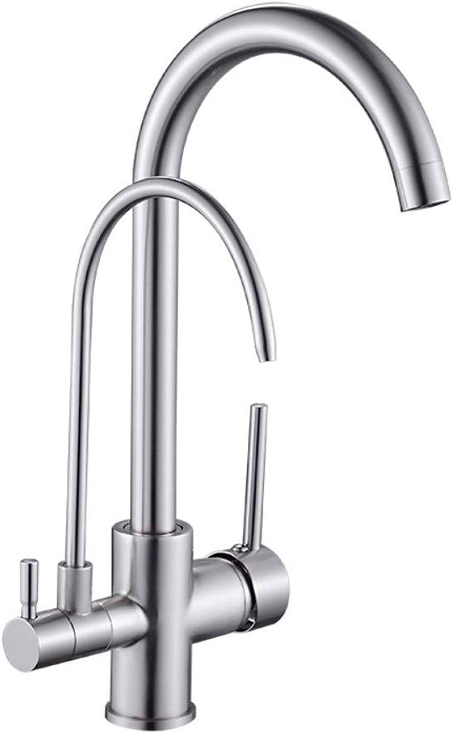 QIMEIM Kitchen Taps Sink Mixer Tap Brushed Hot and Cold Water Kitchen Water Purifier Basin Tap Sink Faucet Swivel Spout Kitchen Basin Sink Mixer Tap Kitchen Faucet