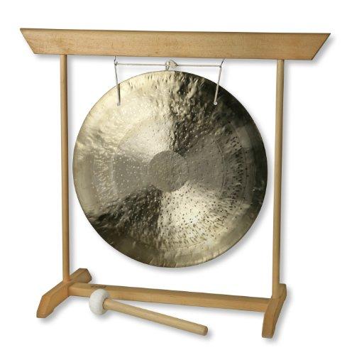 Feng Gong (Wind Gong) Ø 45 cm mit Holzständer, Buche