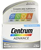 Centrum Advance Multivitamins & Minerals Tablet | 30 Tablets (1 Months Supply) | 24 Key nutrients Vitamins and Minerals for Men and Women | Vitamin D | A-Z multivitamins