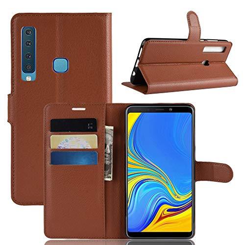 CoverKingz Handyhülle für Samsung Galaxy A9 [2018] - Handytasche mit Kartenfach A9 Cover - Handy Hülle klappbar Braun