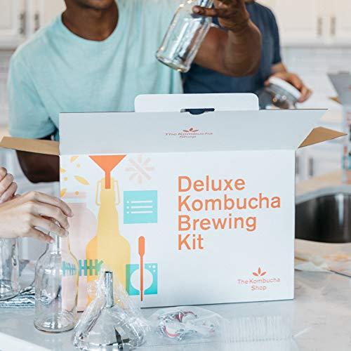 Deluxe Kombucha Brewing Kit – 6 Swing Top Bottles, Funnel, Bottle Brush