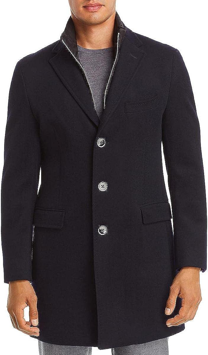 Dylan Gray Mens Wool Blend Overcoat Pea Coat