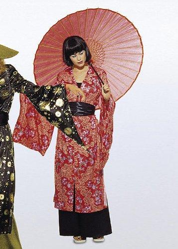 Burda 3044 Schnittmuster Kostüm Fasching Karneval Kimono & Hose (Damen, Gr. 36-46) – Level 2 leicht