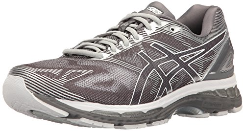 ASICS Men's Gel-Nimbus 19 Running Shoe, Carbon/White/Silver, 9 M US