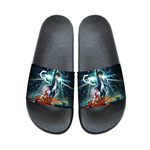 Uwkdjgfhi Guilty Crown Zapatos Deslizadores Frescos de Resbalón-en el Interior Casa Zapatillas de Estilo Deportivo de Las Chancletas Wild Summer Style Unisex (Color : A03, Size : EU38 US7)