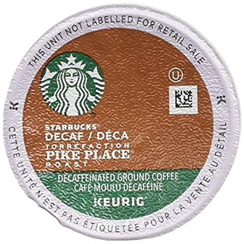 Starbucks Decaf Pike Place Roast K Cups, 72 Count (3 boxes of 24 K-Cups)