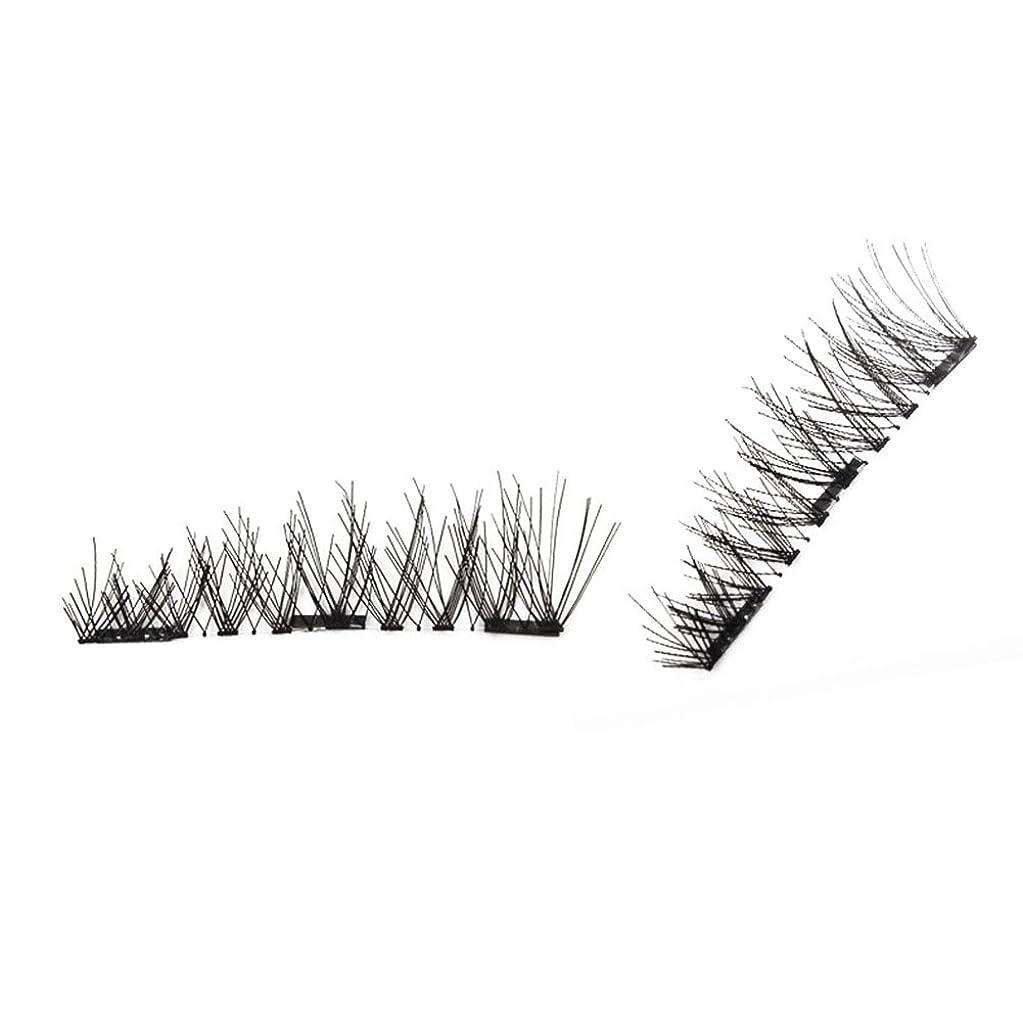 ポータル物理的に盟主Liebeye つけまつげ 3D 磁気 偽のまつげ グルー フリー カール アイ ラス 簡単な着用 美容ツール 4個/ボックス 4#
