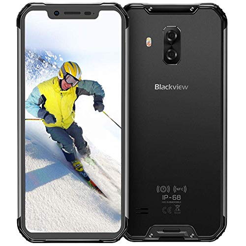 Rugged Cell Phones Unlocked, Blackview BV9600 pro 4G Rugged Smartphone IP68 Android 9.0 Octa Core 6GB RAM+128GB ROM 6.21 Inches 19:9 FHD+ 5580mAh 16MP+8MP Rugged Phone AT&T T-Mobile Verizon, Grey