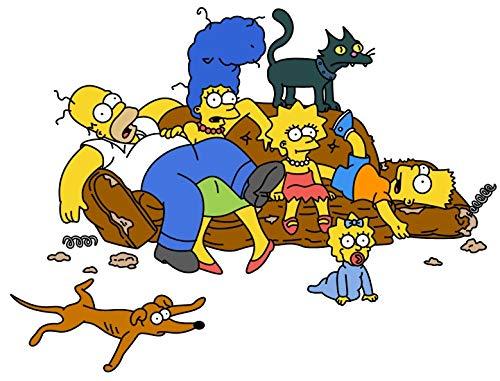 Aaubsk Puzzle 1000 Piezas Los Simpsons Serie de pósteres Animados 18 Regalos artísticos Puzzle 1000 Piezas educa Rompecabezas de Juguete de descompresión Intelectual Colorido juego50x75cm(20x30inch)