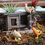 weichuang Ornement de jardin Poulailler Lapin Clapier Jardin féerique Poule miniature Bois Maison de lapin Woodland Ferme Jardin Cour Accessoires de décoration (Couleur : Seul le poulailler)