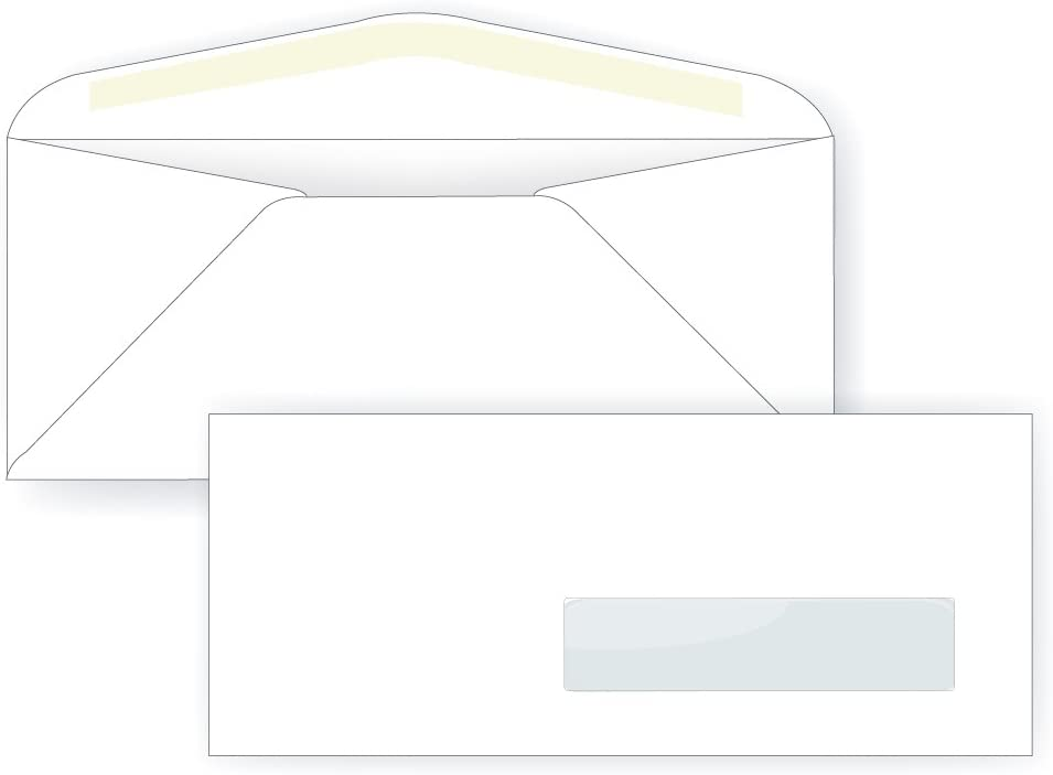 #10 Right Hand Window Envelope - 24# White 1 8 4 Win x 2 9 All Washington Mall stores are sold