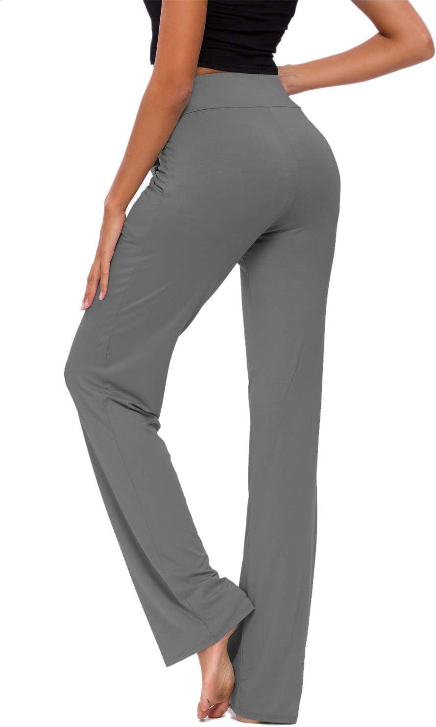 OURCAN Pantaloni da Yoga da Donna con Tasche a Gamba Larga con Coulisse Allentati Lounge Dritti da Corsa Pantaloni Modali Pantaloni Sportivi Casual Attivi