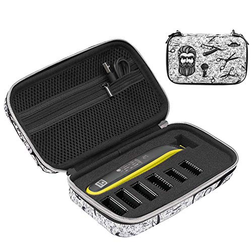 Fromsky Hard Case for Philips Norelco OneBlade QP2520, QP2530, QP2620, QP2630, Travel Case Protective Cover Storage Bag for One Blade