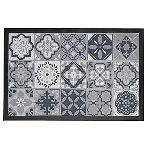 Tapis Imprime PVC Carreaux de Ciment 40X60cm Deco Textile d