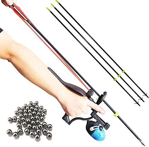 HANDBAIGE ABS Fishing & Hunting Slingshot Set High Velocity Catapult...