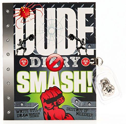 DUDE Diary SMASH! - Boys 8+ - Fun Illustrated Activity Diary - Lock & Keys