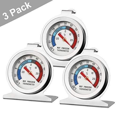 Makerfire Thermomètre de réfrigérateur étanche réfrigérateur congélateur Thermomètre-3Pack
