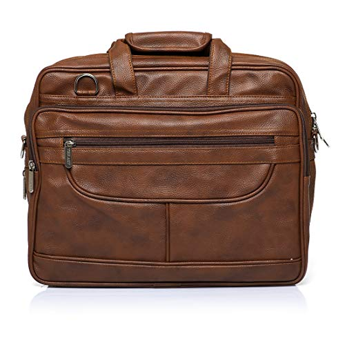 Gikvni Cuero profesional ejecutivo formal oficina portátil Messenger Sling Bag para hombres mujeres