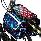Bolsa Bicicleta Cuadro soporte movil bicicleta bici funda Valida para Smartphones de hasta 7.5 con forro Protector Lluvia Bolsa para Bicicleta soporte para movil bicicleta porta movil Bicicleta