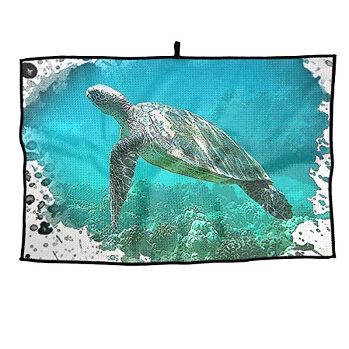 NVCBHk Sea Turtles Soft Comfortable Microfiber Golf Towel Ultra Compact Absorbent Sport Towel - for Yoga, Sport, Running, Gym, Workout,Camping, Fitness