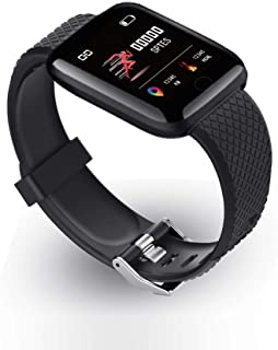 Kylewo Pulsera de Fitness con Monitor de frecuencia cardíaca, Smartwatch Sport Watch Smart Watch Fitness Tracker Reloj de Pulsera Smart Multifunction Watch Ladies Mens
