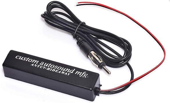 Bingfu Antena Amplificada de Radio FM AM Estéreo para Coche Montaje Adhesivo Antena Oculta para Camión SUV Vehículo Receptor de Audio Estéreo Medios ...