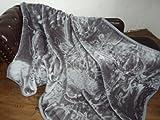 Natur-Fell-Shop Luxus Kuscheldecke Tagesdecke Decke grau anthrazit 160x200cm
