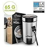 Liebfeld - Elektrische Kaffeemühle mit 65g Füllmenge I Kaffemühle elektrisch mit Edelstahlmesser...