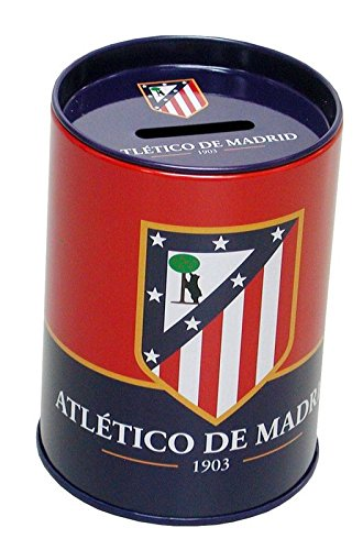 Hucha cubilete metalica de Atletico de Madrid (6/96)