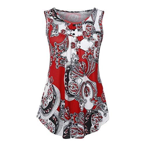 C&L DaySeventh Women's Long Sleeve/Sleeveless Floral Print V Neck Henley Tops Blouse Shirts Tunic