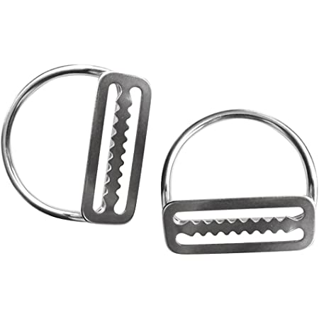 Camu Scuba Diving Stainless Steel Weight Belt Keeper with D-Ring