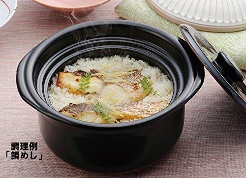 萬古焼銀峯菊花ご飯鍋5合炊き「二重蓋」瑠璃釉96181