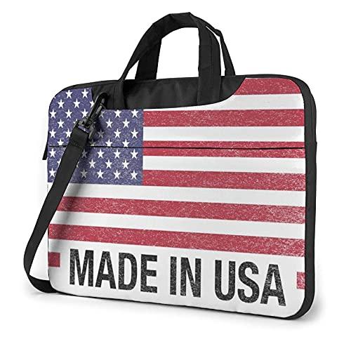 Bolsa para portátil de 13-15,6 Pulgadas Hecho en EE.UU Bolso de Hombro para portátil Bolso de Hombro Elegante Ordenador Portátil
