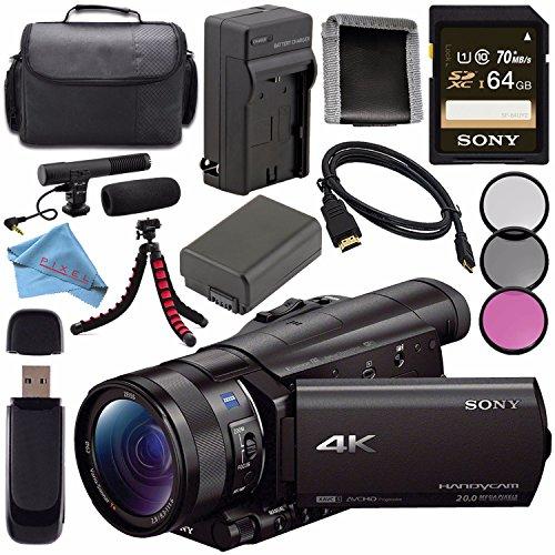 Sony FDR-AX100 FDRAX100/B 4K Ultra HD Camcorder Bundle Advanced
