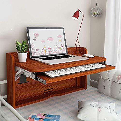 AYHa Kaffee Multifunktions Schreibtisch Falte Wand- Tropfen-Blatt Klein Etagenbetten Schlaf Artifact Faule Schreibtisch,Teak Farbe