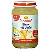 Alnatura Demeter Bio Birne-Apfel, glutenfrei, 6er Pack (6 x 190 g) -