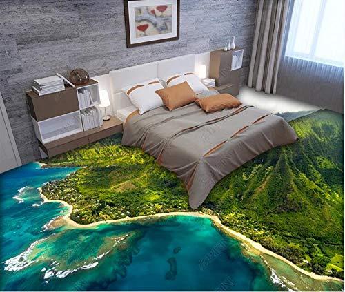 Kundenspezifische selbstklebende 3D-Bodenbilder Seaside Mountain Scenery 3D-Bodenbilder, 150 * 105 cm