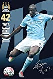 GB Eye, Manchester City, Toure 15/16, Maxi-Poster, Holz,