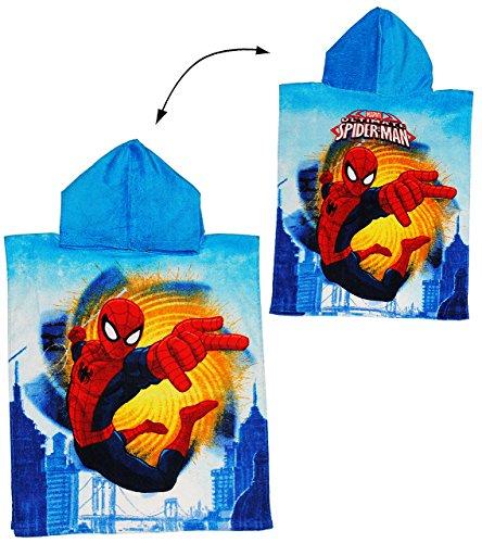 alles-meine.de GmbH Badeponcho - Ultimate Spider-Man - 50 cm * 115 cm - 4 bis 8 Jahre Poncho - mit Kapuze - Handtuch Strandtuch Baumwolle - Spiderman Spider Man - Jungen - für Ki..
