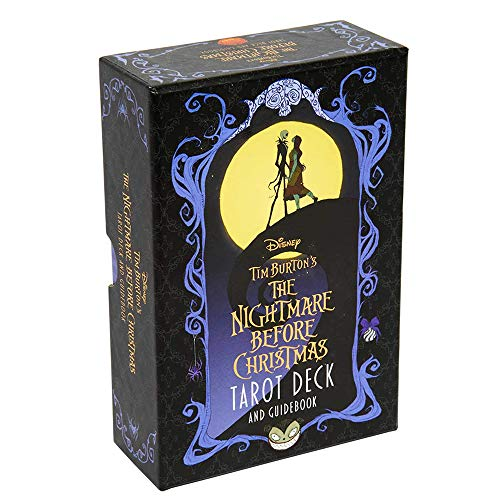 NIEFENG Home Party 78 Cards Card Game Divination Oracle Card Tarot Cards Tarot Deck The Nightmare Before Christmas(1 Set,A)