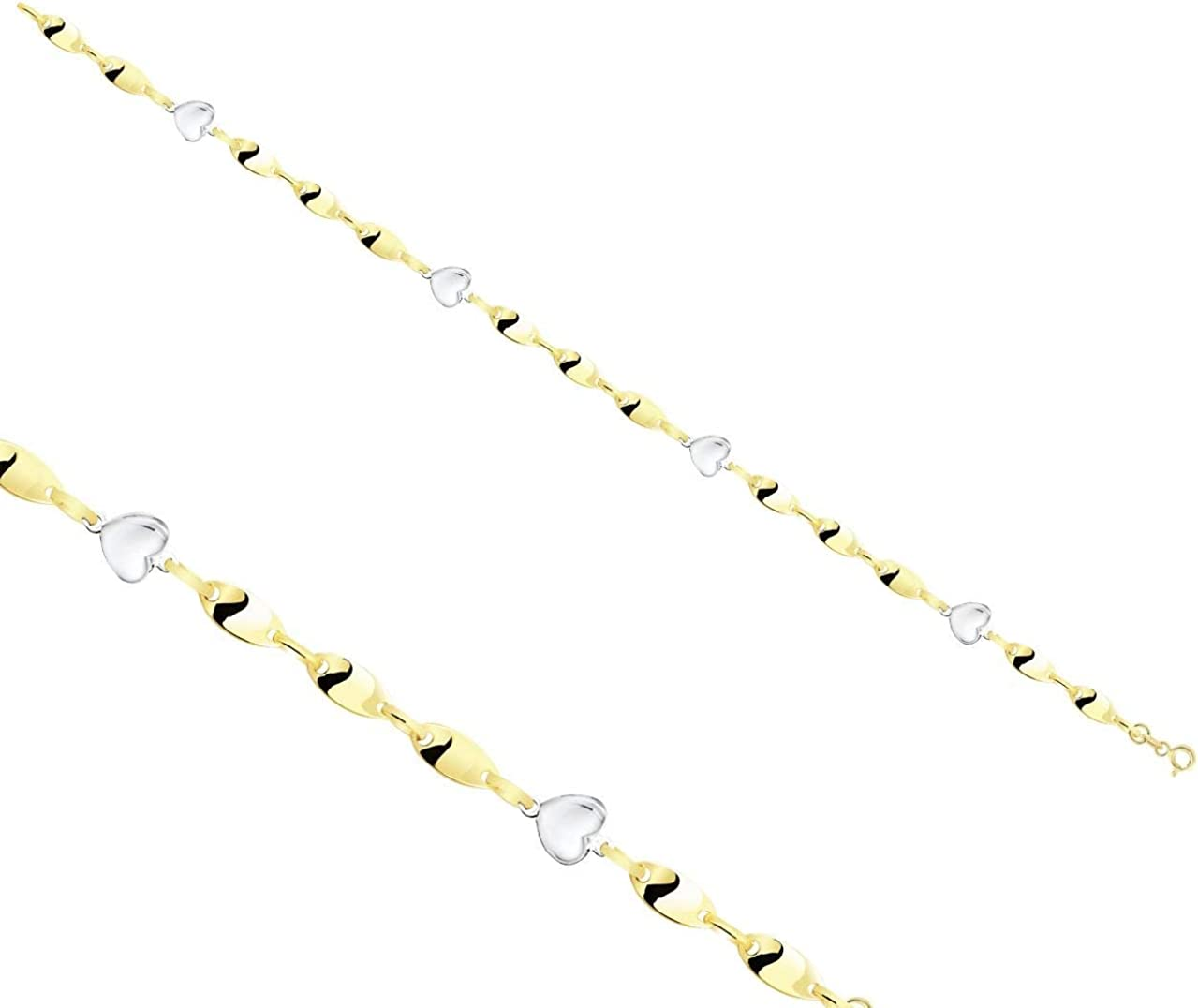 Anelise Sales of SALE items from new works Heart Pendant 14k Solid Yellow Max 74% OFF 7.3 2.8 Gold Bracelet gr