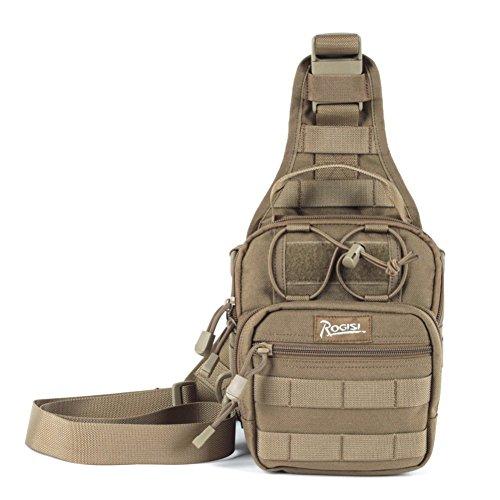 Sincere® Hambourg poitrine sac / Messenger / sac de sport de plein air / ventilateurs militaires de camping pack-Khaki poitrine 15L