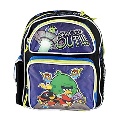 """Angry Birds Spaced Out 12"""" Kids School Backpack Bag 2 Front Pockets"""