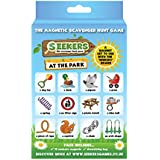 SEEKERS Scavenger Hunt Game Add-On Pack - At The Park. Fun For Children All Ages. Outdoor Nature Treasure Hunt. Ideal For Sensory Play & Travel. Outdoor Games for Kids. Magnetic Board Sold Separately.