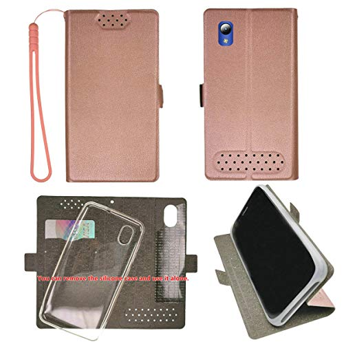 Case for ZTE Blade Vantage 2 Quest 5 Z3351S 5' Case TPU Soft + Flip Cover Stand Shell Pink